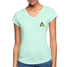 Load image into Gallery viewer, Women's Tri-Blend V-Neck T-Shirt - mint