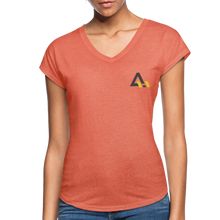 Load image into Gallery viewer, Women's Tri-Blend V-Neck T-Shirt - heather bronze