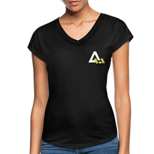 Load image into Gallery viewer, Women's Tri-Blend V-Neck T-Shirt - black