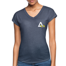 Load image into Gallery viewer, Women's Tri-Blend V-Neck T-Shirt - navy heather