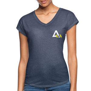 Women's Tri-Blend V-Neck T-Shirt - navy heather