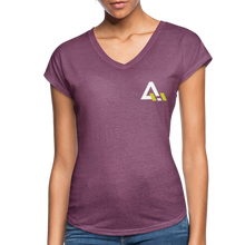 Load image into Gallery viewer, Women's Tri-Blend V-Neck T-Shirt - heather plum