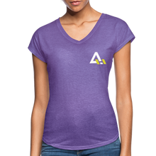 Load image into Gallery viewer, Women's Tri-Blend V-Neck T-Shirt - purple heather