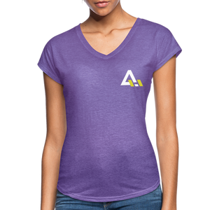 Women's Tri-Blend V-Neck T-Shirt - purple heather