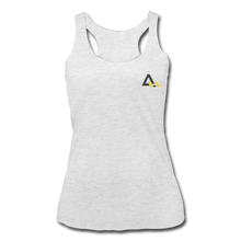 Load image into Gallery viewer, Women's Tri-Blend Racerback Tank - heather white
