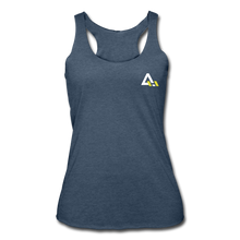 Load image into Gallery viewer, Women's Tri-Blend Racerback Tank - heather navy