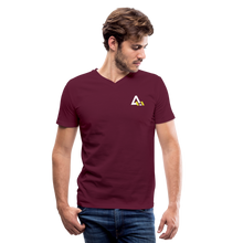 Load image into Gallery viewer, Men's V-Neck T-Shirt - maroon