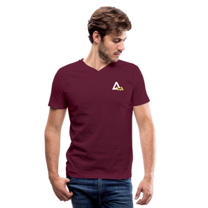 Men's V-Neck T-Shirt - maroon