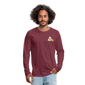 Men's Premium Long Sleeve T-Shirt - heather burgundy