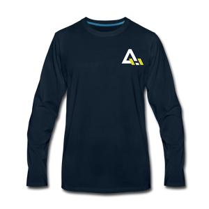Men's Premium Long Sleeve T-Shirt - deep navy