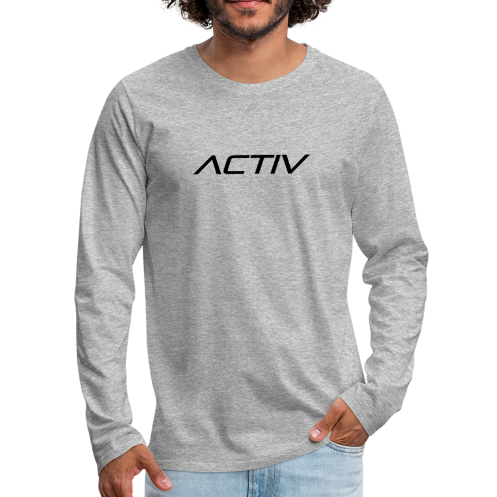 Men's Premium Long Sleeve T-Shirt - heather gray