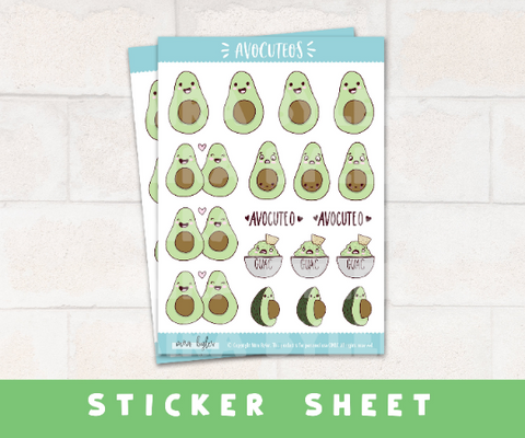 Avocuteos - Stickers