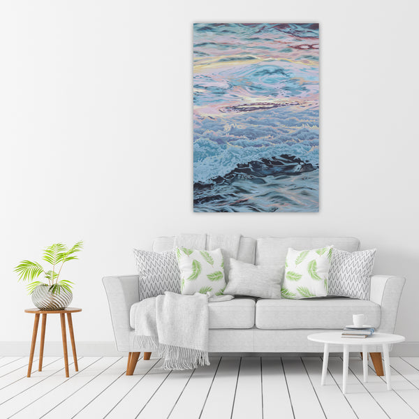 Sunset Waves - Original Oil Painting