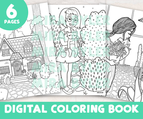 Digital Coloring Book - Volume I