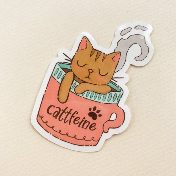 Cattfeine - Vinyl Sticker