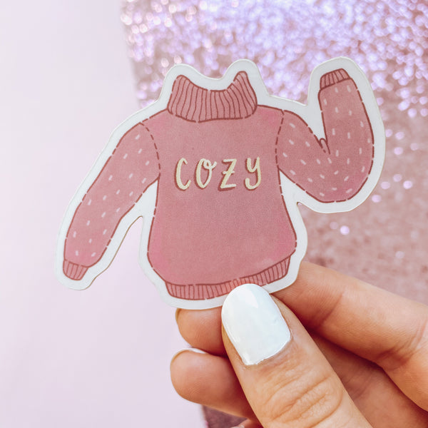 Cozy Sweater - Vinyl Sticker