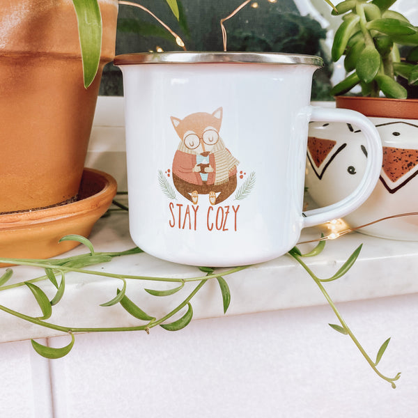 Stay Cozy - Enamel Mug