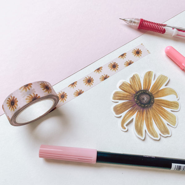 Black Eyed Susans - Washi Tape