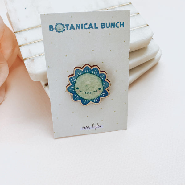 Grinny - Botanical Bunch - Wooden Pin