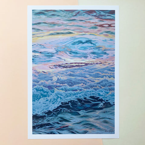 Sunset Waves - Limited Edition Print