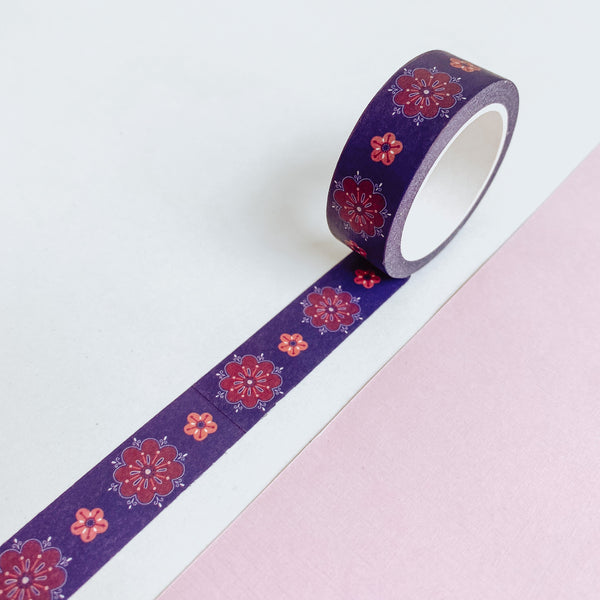 Bohemian Autumn Florals - Washi Tape