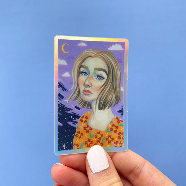 Celestial Surrealism - Holographic Sticker