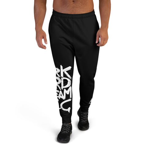 Work Hard Dream Big - Black Men's Joggers - Aurorum Fashion