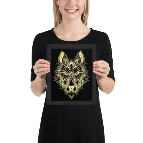 Wolf #03 - Framed poster - Aurorum Fashion