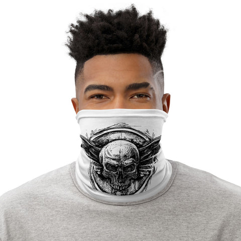 Skull - White Neck Gaiter - Aurorum Fashion