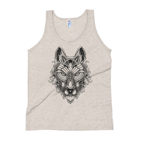 Wolf #03 - Light Edition Unisex Tank Top - Aurorum Fashion