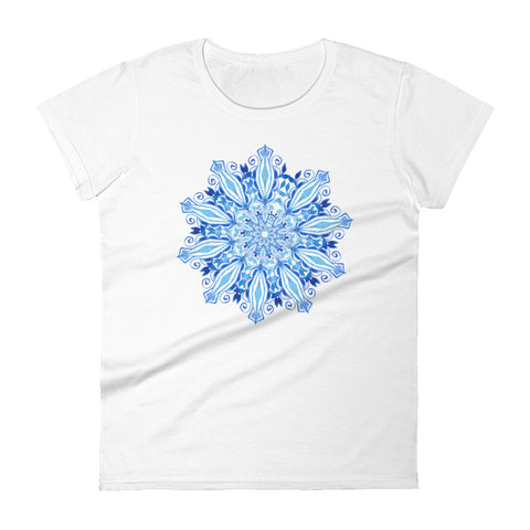 Blue Mandala - Women's short sleeve t-shirt - Aurorum Fashion