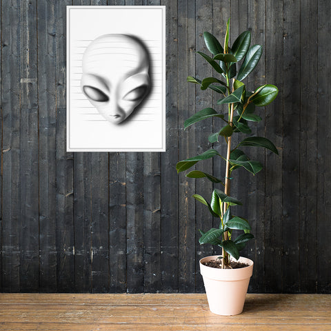 3D Alien hand draw - Framed poster - Aurorum Fashion