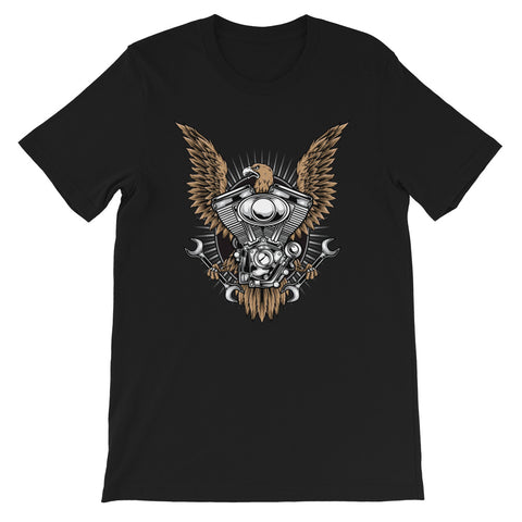 Eagle Engine #02 - Short-Sleeve Unisex T-Shirt - Aurorum Fashion