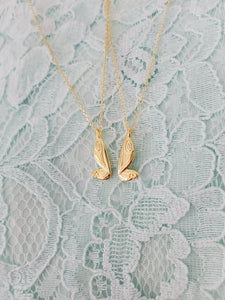 Best Friend Fairy Wing Necklaces