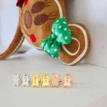 Load image into Gallery viewer, Gingerbread Mickey & Minnie Earrings