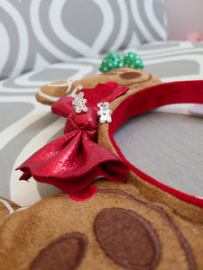 Gingerbread Mickey & Minnie Earrings