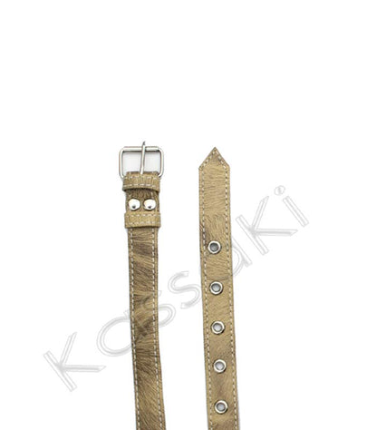 Hairdressing Scissor Holster Tool Belt in Beige Cowhide Look - Jazz11