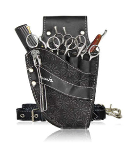 Hairdressing Scissors Pouch in Black Daisy