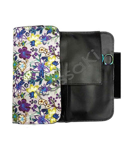 Hairdressing Scissor Case - Tool Roll - Blue Daisy