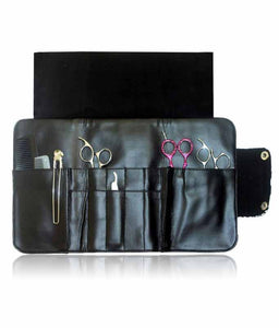 Hairdressing Scissor Case - Tool Roll - Grey Triangle