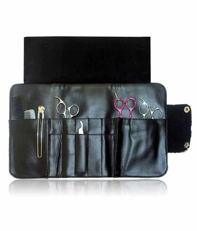 Hairdressing Scissor Case - Tool Roll - Black Sparkle