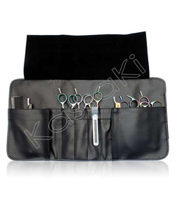 Hairdressing Scissor Case - Tool Roll - Dusty Pink Glitter