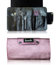 Load image into Gallery viewer, Hairdressing Scissor Case - Tool Roll - Dusty Pink Glitter