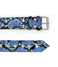 Load image into Gallery viewer, Hairdressing Scissors Tool belt Bag in Blue Snake - TB28