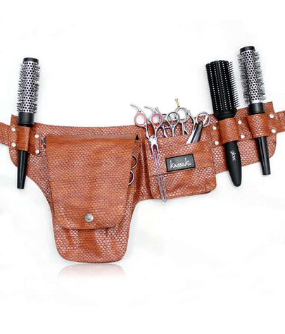 Hairdressing Scissors Tool belt Bag in Brown - TB31