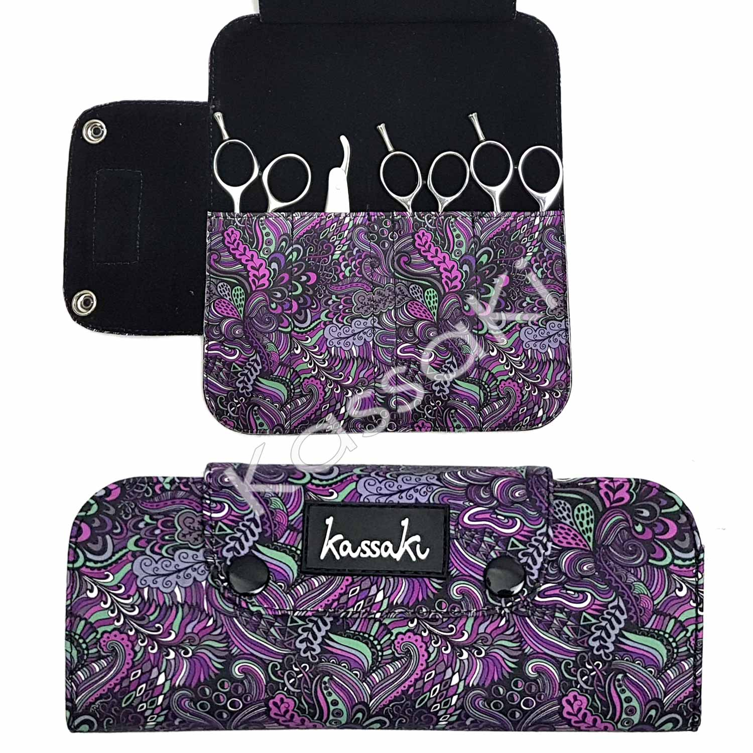 Hairdressing Scissor Wallet Deep Purple - WA12