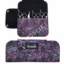 Load image into Gallery viewer, Hairdressing Scissor Wallet Deep Purple - WA12