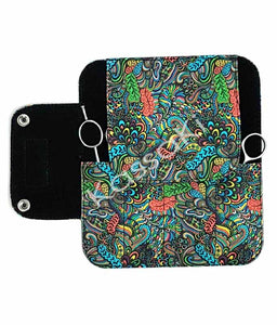 Hairdressing Scissor Wallet in Green Flower - WA14