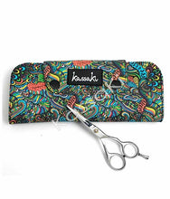 Load image into Gallery viewer, Hairdressing Scissor Wallet in Green Flower - WA14