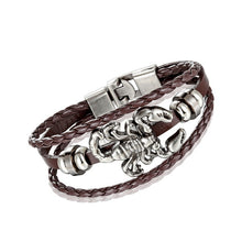 Load image into Gallery viewer, intage Scorpion Bracelet With Multilayer Leather